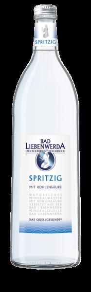 Bad Liebenwerda Mineralwasser Spritzig 1 Liter Glasflasche
