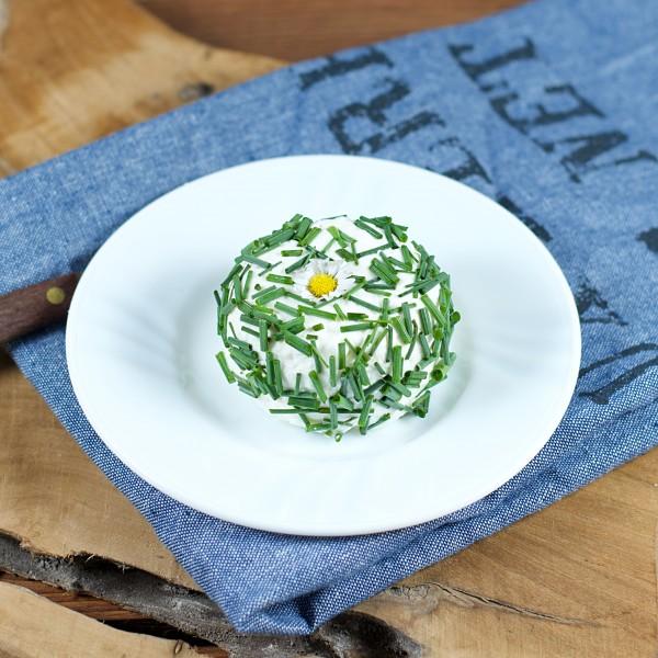 BIO - Ziegenfrischkäse - Bunte Taler mit Blüten und Kräutern