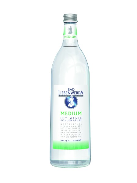 Bad Liebenwerda Mineralwasser Medium 1 Liter Glasflasche