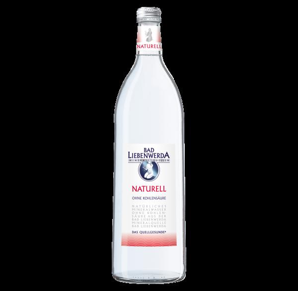 Bad Liebenwerda Mineralwasser Naturell 1 Liter Glasflasche