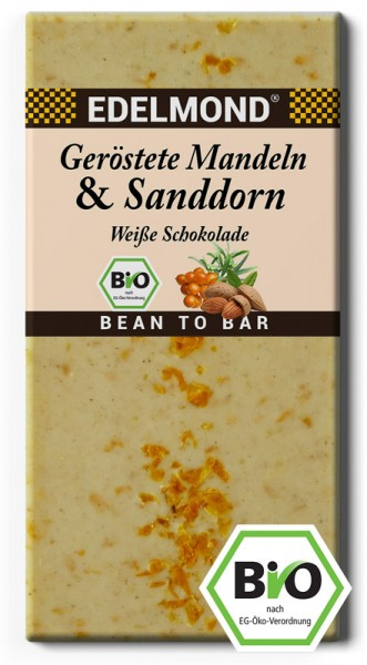 BIO - Geröstete Mandeln & Sanddorn, Weiße Schokolade