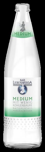 Bad Liebenwerda Mineralwasser Medium 0,75 Liter Glasflasche